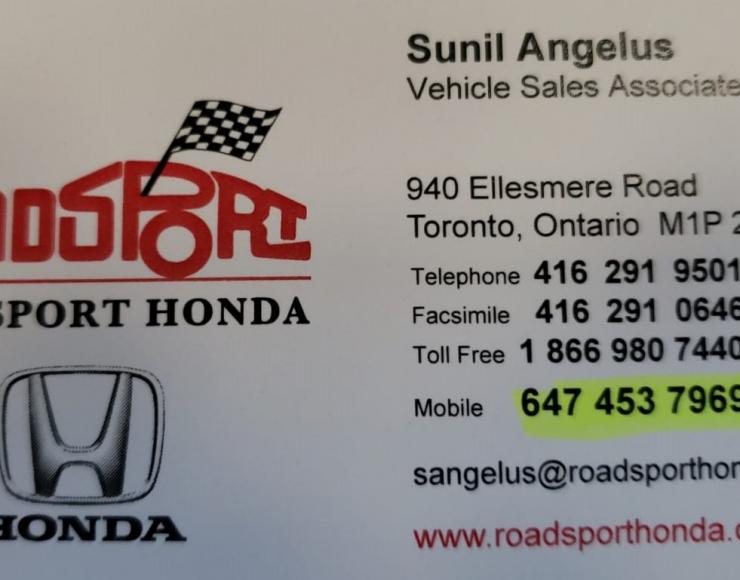 Sunil Angelus – Roadsport Honda