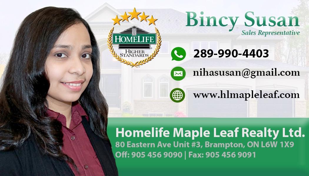 Bincy Susan- Malayali Realtor