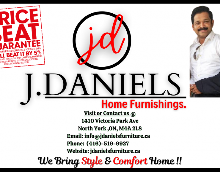 J.DANIELS HOME FURNISHINGS – Malayali Furniture Store