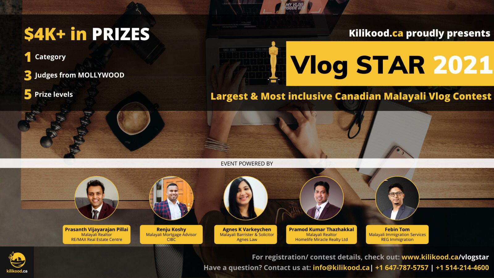 Kilikood.ca Presents VlogStar 2021